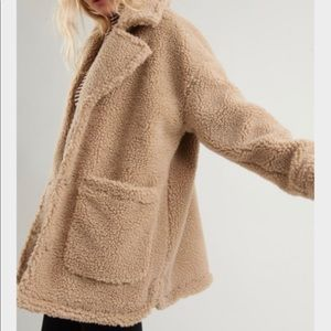 Teddy Coat in Tan with TAG